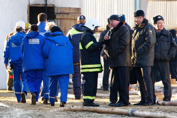 Пожар в строящихся подземных гаражах юго-востоке Москвы ликвидирован