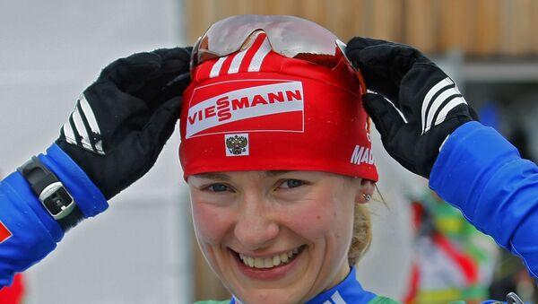 Российская биатлонистка Екатерина Юрьева, архивное фото