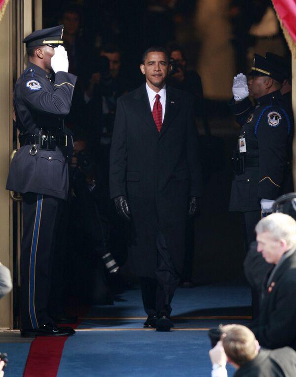 Барак Обама прибыл на церемонию инаугурации