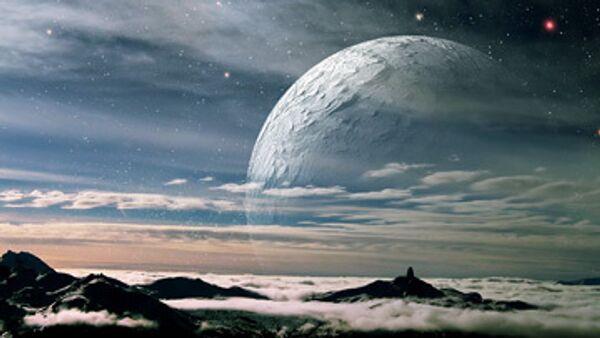 космос, планета, горы, лед
