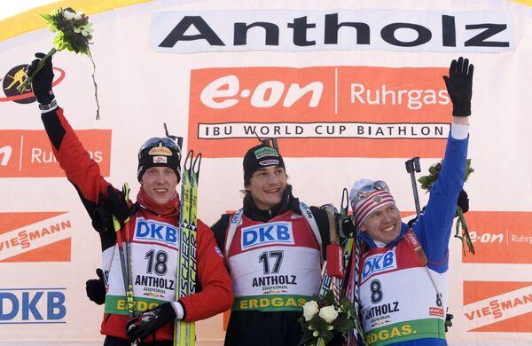Доминик Ландертингер, Кристоф Штефан, Иван Черезов (слева направо)