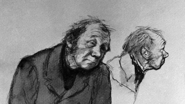 Иллюстрация Кукрыниксов к повести Гоголя Шинель