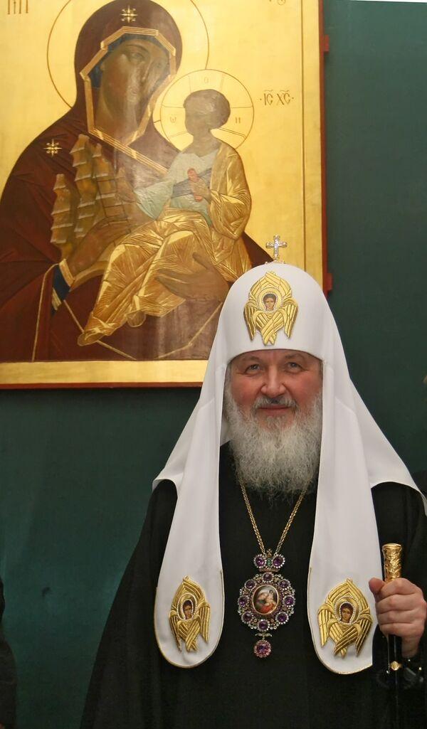 Патриарх Кирилл на торжественном приеме по случаю своей интронизации