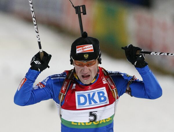 Российский биатлонист Максим Чудов