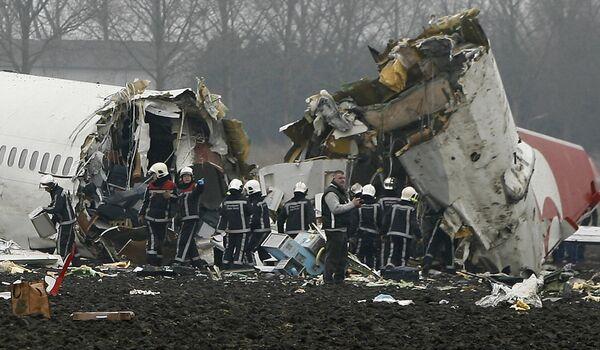Катастрофа турецкого пассажирского самолета в аэропорту Амстердама