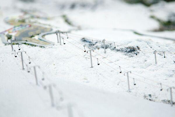 Макет олимпийских сооружений в Сочи