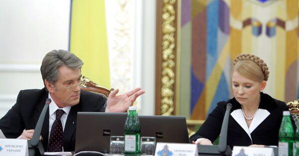 Тимошенко заявляет, что готова сотрудничать с Ющенко