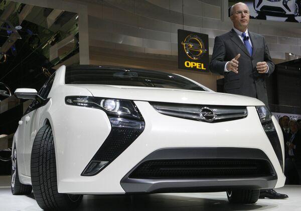 Opel Ampera на Женевском международном автосалоне
