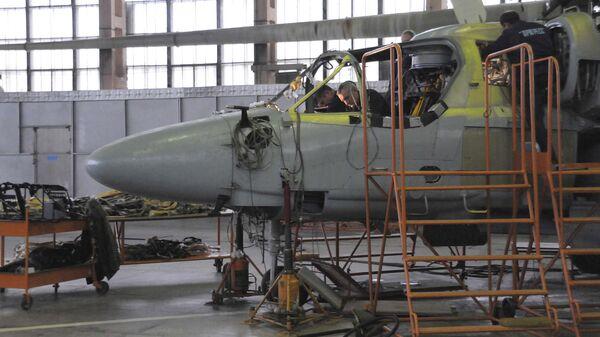 Цех авиационного завода Прогресс в Арсеньеве