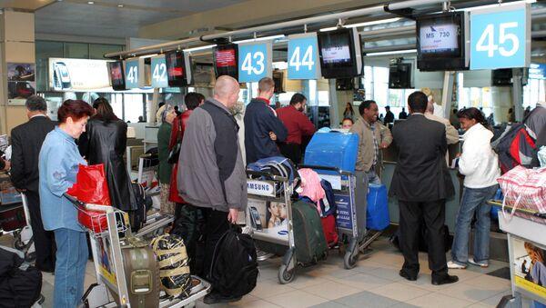Регистрация пассажиров в аэропорту Домодедово