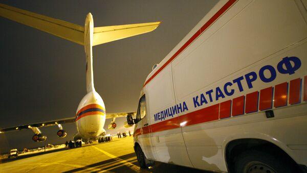 Самолет МЧС доставил в Москву девятерых раненых в результате теракта, совершенного террористом-смертником в понедельник в Назрани