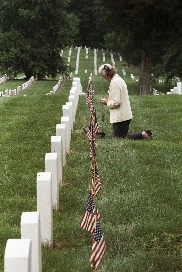 На мемориальном Арлингтонском кладбище