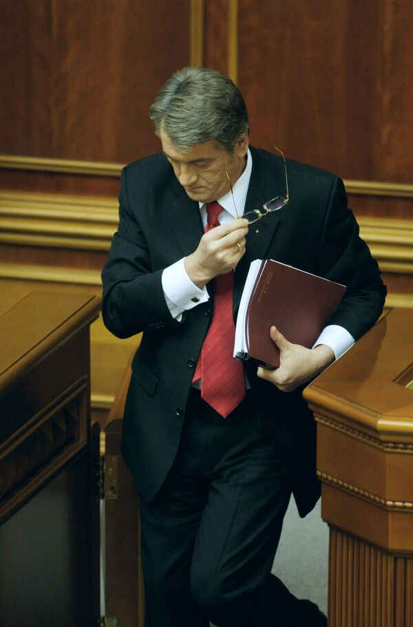 Во вторник Ющенко внес в Раду проект изменений Конституции