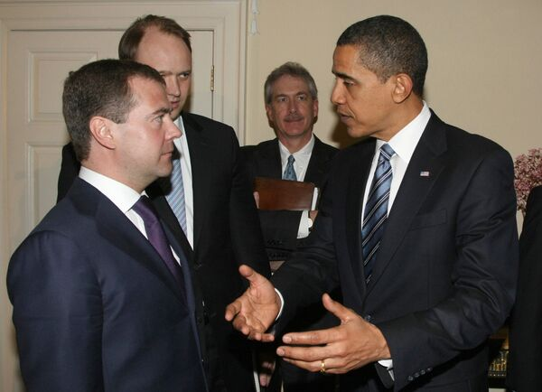 Переговоры президентов России и США Д. Медведева и Б. Обамы в Лондоне