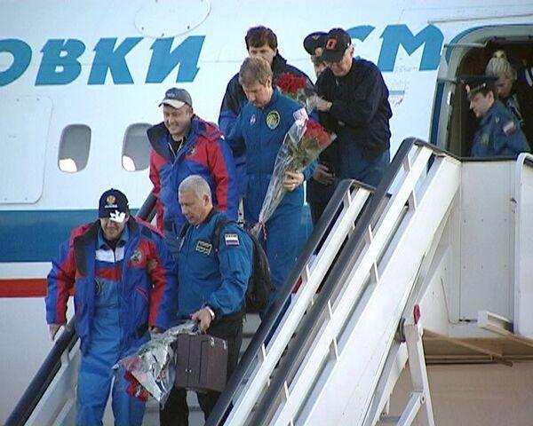Возвращение 18-го экипажа МКС в Звездный Городок