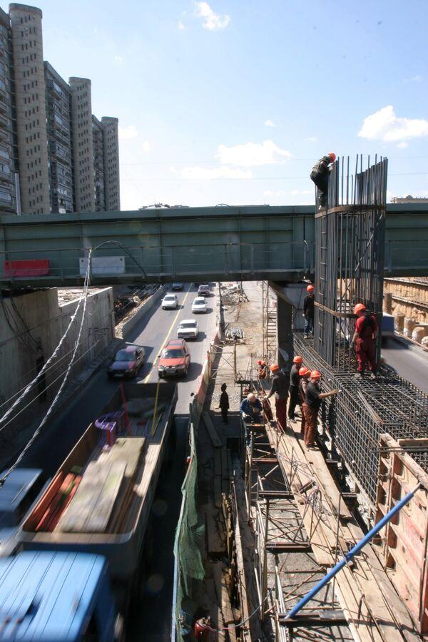 Строительство развязки на третьем транспортном кольце