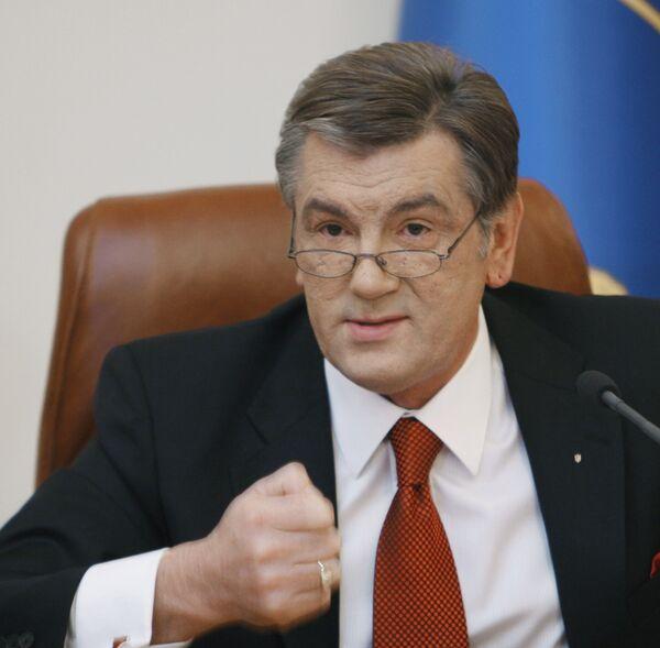 Ющенко назвал недружественными гуманитарные проекты РФ в Севастополе