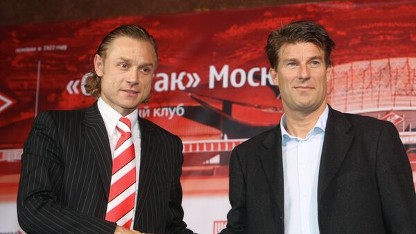 Валерий Карпин и Микаэль Лаудруп