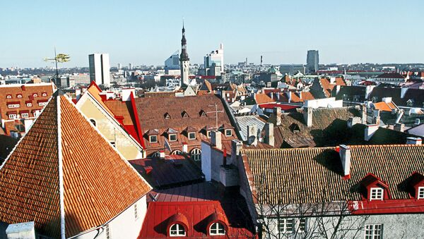 Вид на город Таллин. Архив