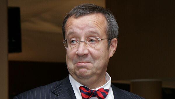 Президент Эстонии Тоомас Хендрик Ильвес. Архив