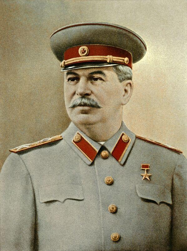Репродукция фотопортрета Иосифа Виссарионовича Сталина. Архив