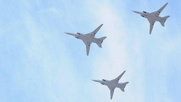 Дальние бомбардировщики Ту-22М3, архивное фото