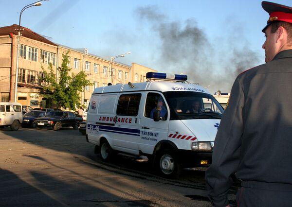 Пожар на каучуковом заводе Наирит в Ереване