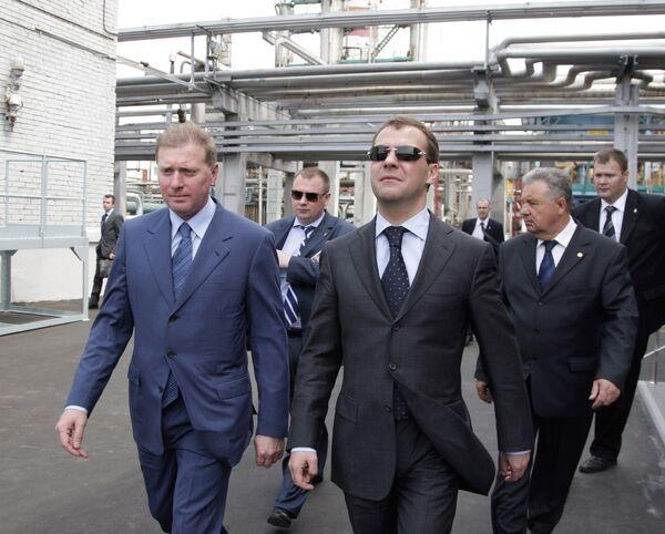 Президент РФ Д.Медведев посетил Хабаровский НПЗ