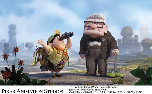 Кадр из мультфильма Вверх