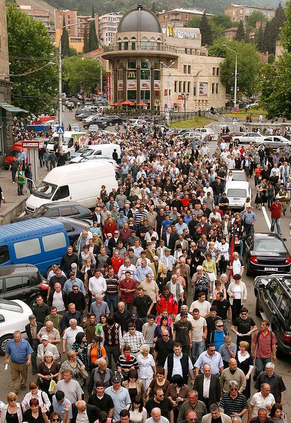 Митинг грузинской оппозиции