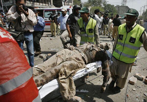 Взрыв в городе Лахор
