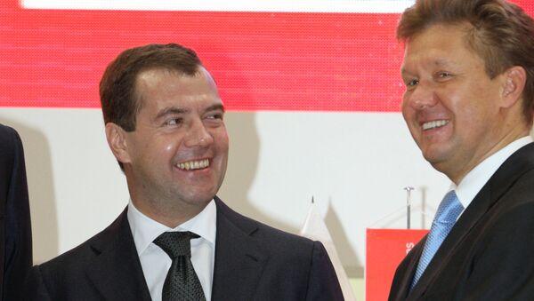 Дмитрий Медведев и Алексей Миллер. Архив