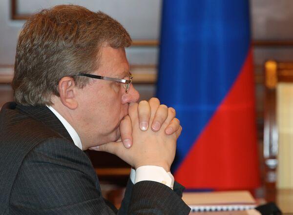 Министр финансов А.Кудрин на заседании комиссии по вопросам военно-технического сотрудничества сотрудничества. Архив