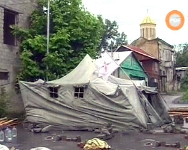Разгромленный город камер в Тбилиси