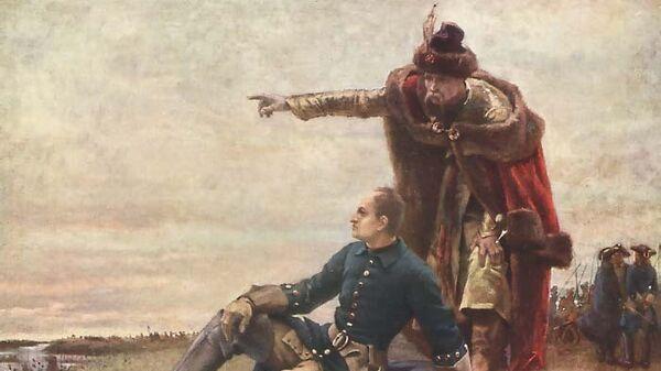 Карл XII и гетман Мазепа, картина шведского художника Густава Седерштрома