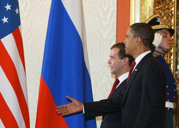Медведев надеется на гармонию в отношениях России и США