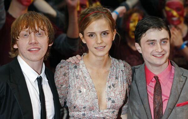 Дэниел Рэдклифф, Руперт Гринт и Эмма Уотсон на премьере шестого фильма Гарри Поттер и Принц-полукровка