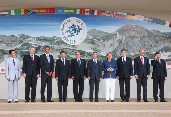 Лидеры G8 не отказались от инвестиций в запланированные энергопроекты