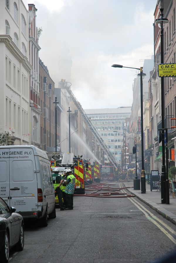 Пожар в лондонском Сохо