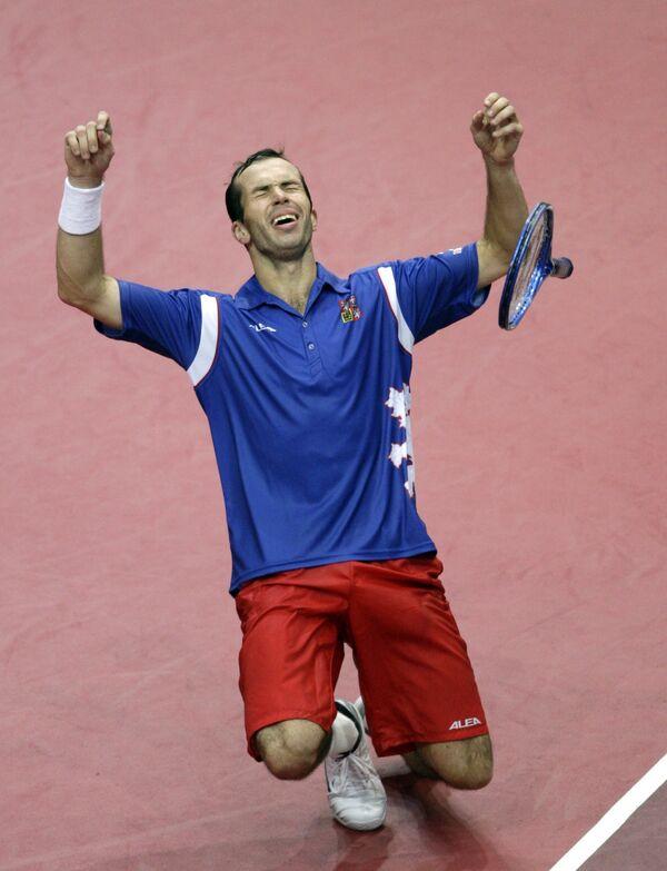 Радек Штепанек принес сборной Чехии победное третье очко