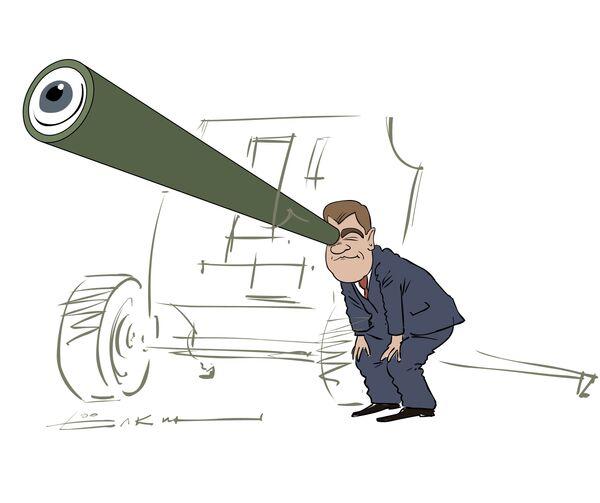 История с президентом, гаубицей и батальонно-тактическими учениями