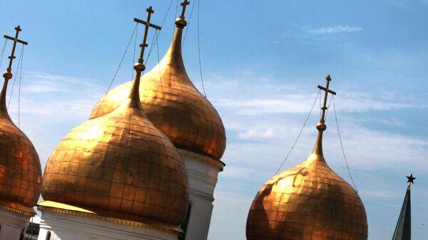 Купола православного собора. Архивное фото