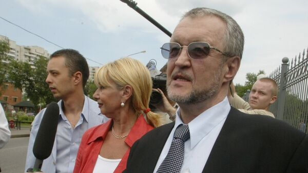 Вячеслав Иваньков у здания Мосгорсуда