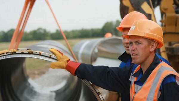 Сварка первого стыка газопровода Сахалин-Хабаровск-Владивосток
