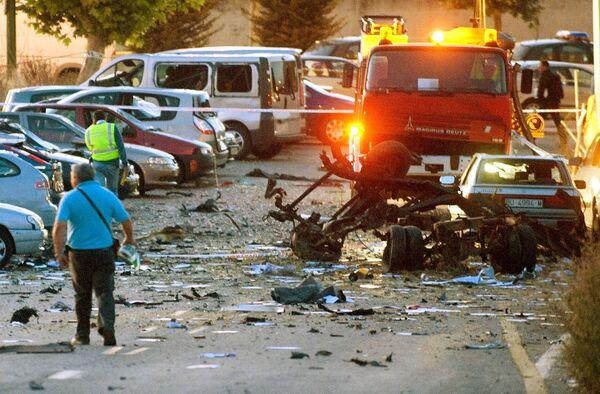 Заминированный автомобиль взорвался в среду в испанском городе Бургос