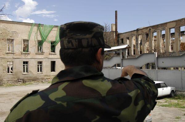 Цхинвали через год после военного конфликта с Грузией. Архив