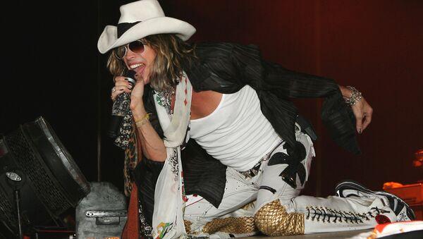 Стивен Тайлер. Концерт группы Aerosmith в СК Олимпийский. Архивное фото