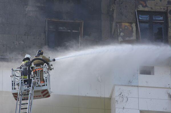 Пожар в московской новостройке