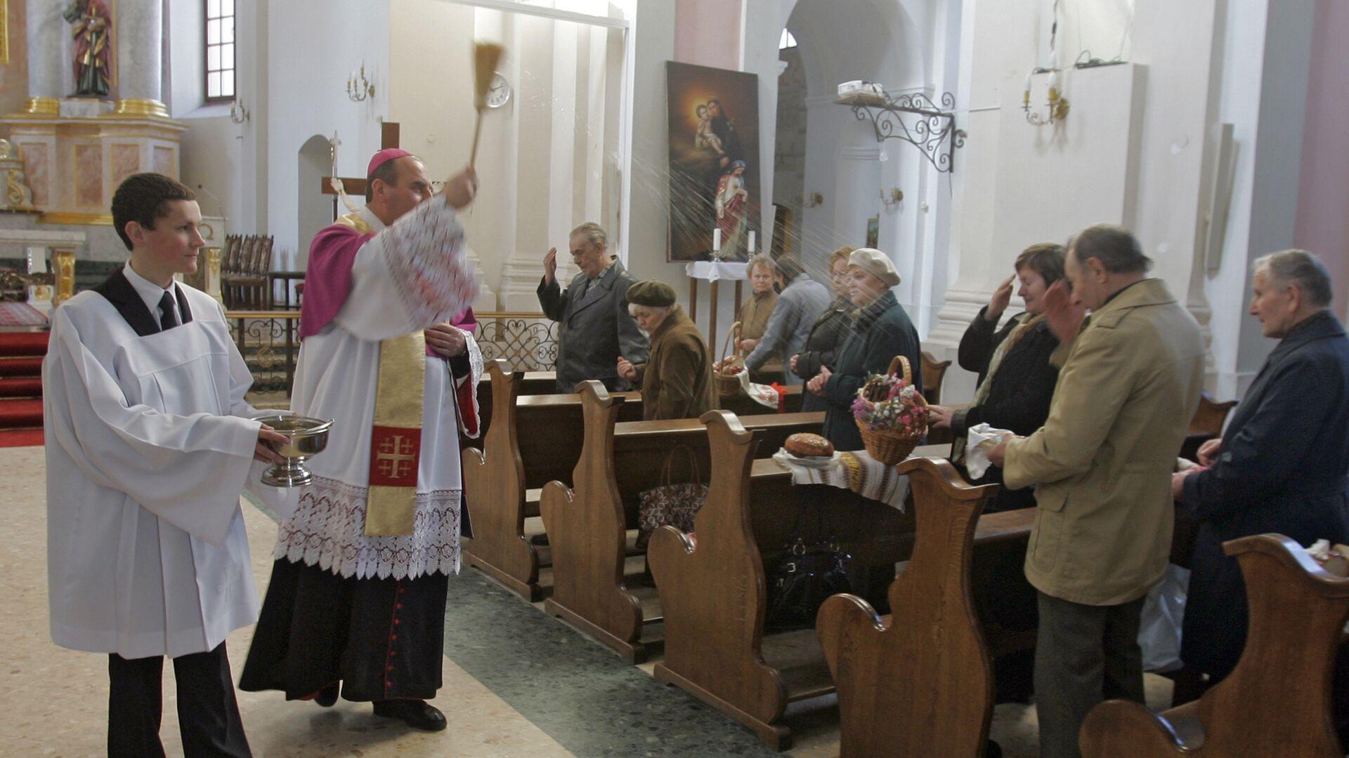 Празднование католической Пасхи в Минске - РИА Новости, 1920, 29.09.2020