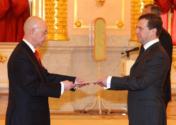 Посол Литовской Республики в РФ Антанас Винкус